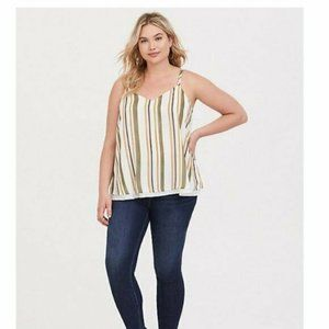Torrid Sophie layered Chiffon Tank Top Green 1X